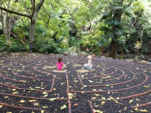 girlsmeditatinglabyrinth